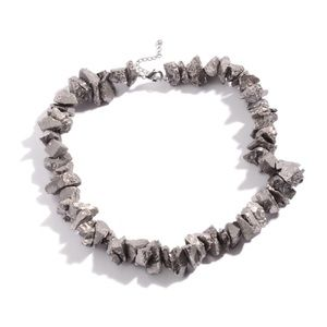 Jewelry - Silver Crystal Quartz Stainless Steel Necklace